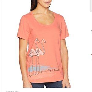 Life is Good Flamingo Shirt